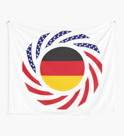 German American Multinational Patriot Flag Series Wall Tapestry