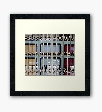 Gated Window Framed Print