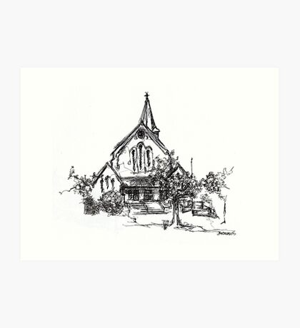 St John's Anglican Church, Wagga Wagga Art Print