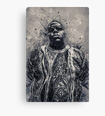 Biggie Smalls Geometric Art Canvas Print