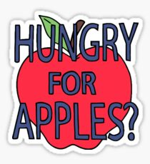 Hungry For Apples Sticker Sticker