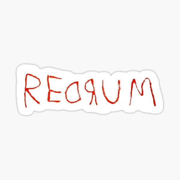 Redrum - l'autocollant brillant Sticker