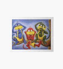 Three Wise Color Monkeys Art Board
