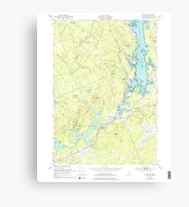 Maine USGS Historical Map Whiting 103110 1949 24000 Canvas Print