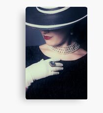 mysterious lady Canvas Print