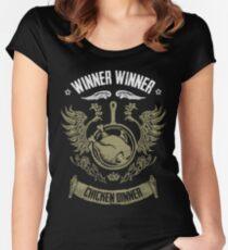 WINNER WINNER CHICKEN DINNER Women's Fitted Scoop T-Shirt