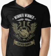 WINNER WINNER CHICKEN DINNER Men's V-Neck T-Shirt
