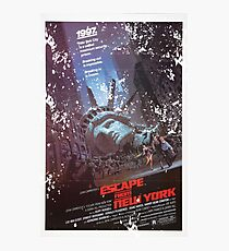 Escape from New York poster Photographic Print