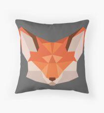 Triangle Fox Throw Pillow