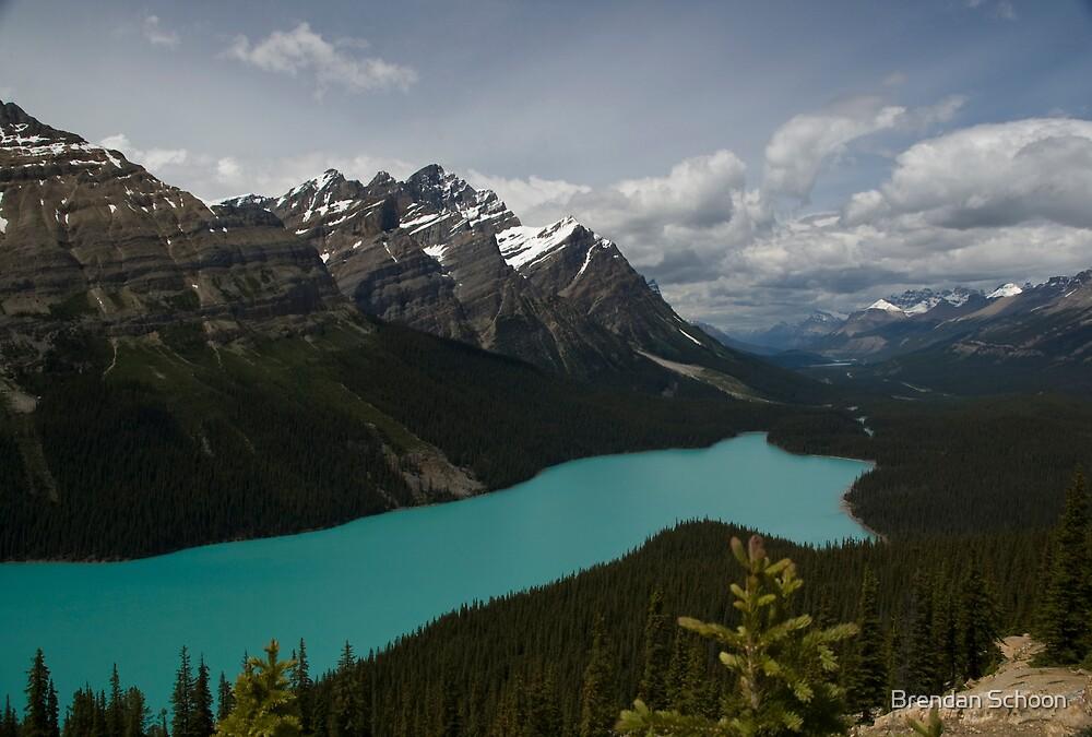Banff National Park, Peyto Lake by Brendan Schoon