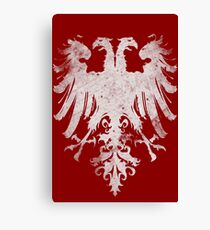 Heraldic Twin Eagles Canvas Print