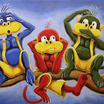 Three Wise Color Monkeys by etourist