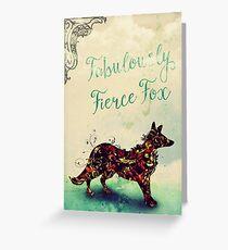 Fabulously Fierce Fox Greeting Card