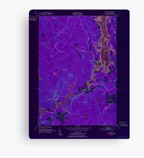 Maine USGS Historical Map Whiting 807307 1949 24000 Inversion Canvas Print