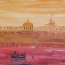 Valletta in pink by Victor Grech