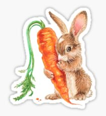 Bunny by Maria Tiqwah Sticker