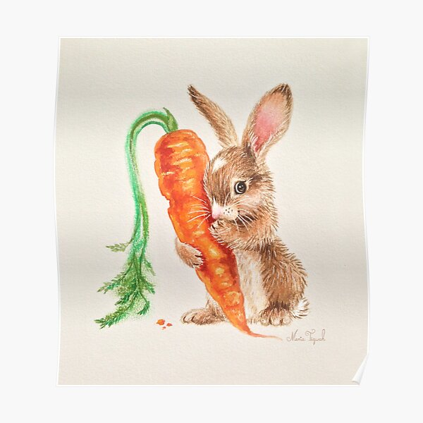 Bunny by Maria Tiqwah Poster