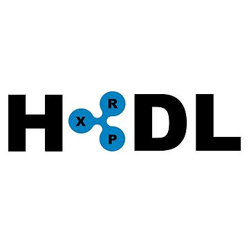 XRP Ripple HODL Black and Blue by Adrock318