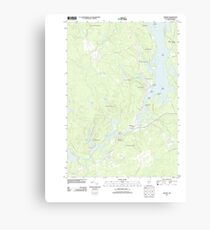Maine USGS Historical Map Whiting 20110830 TM Canvas Print