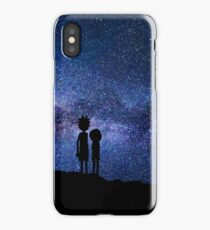 Old Scientist and his Grandson iPhone Case