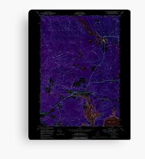 Maine USGS Historical Map Whitneyville 103111 1948 24000 Inversion Canvas Print