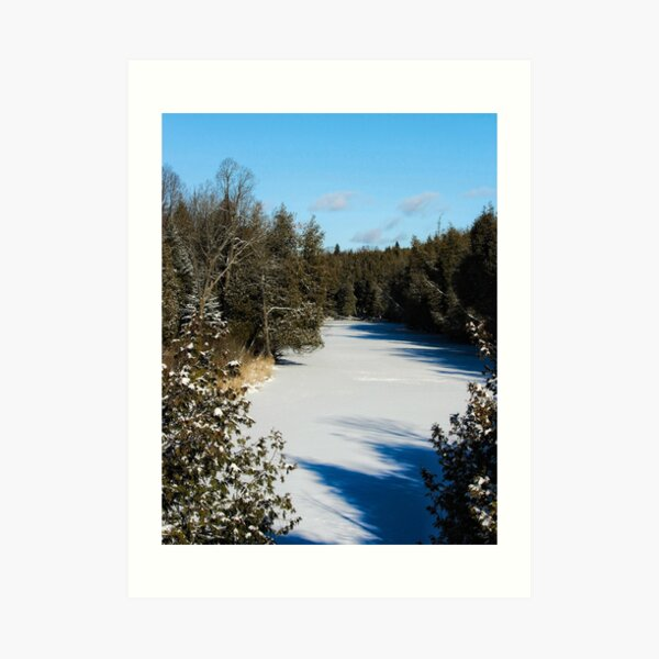 Winter riverview Art Print