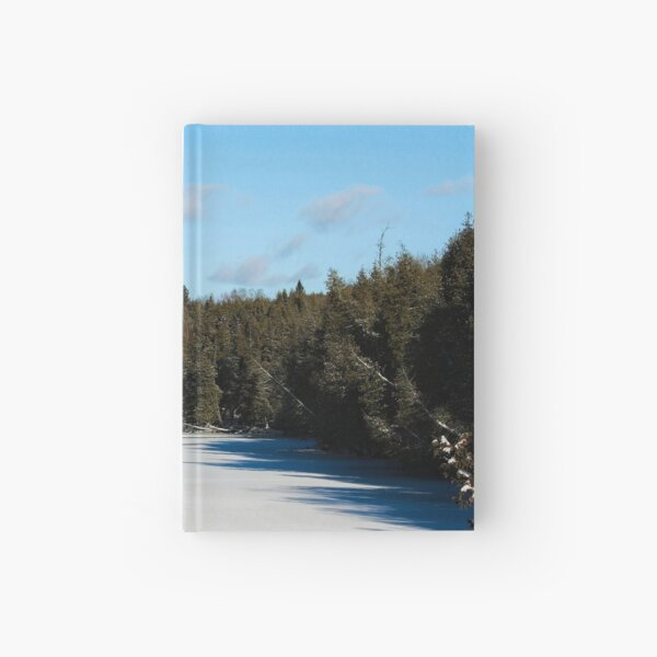 Winter riverview Hardcover Journal