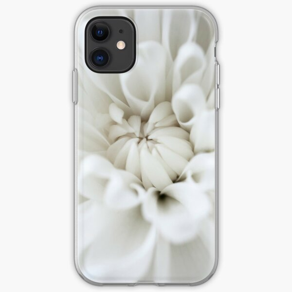 White Flower Burst iPhone Soft Case