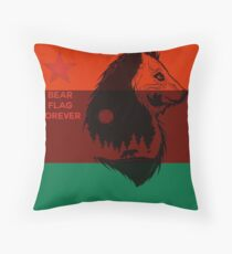 Bear Flag Forever 2 Throw Pillow