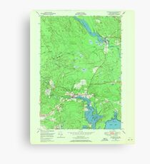 Maine USGS Historical Map Whitneyville 807309 1948 24000 Canvas Print