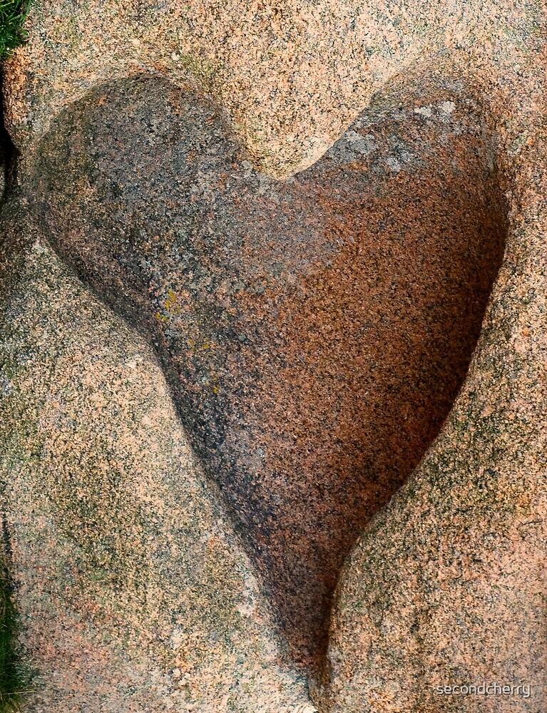 Pink Granite Heart by secondcherry