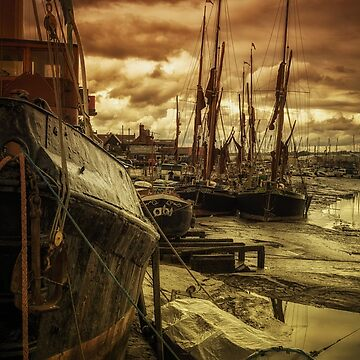 Ships from Essex Maldon Estuary by NeonAbstracts