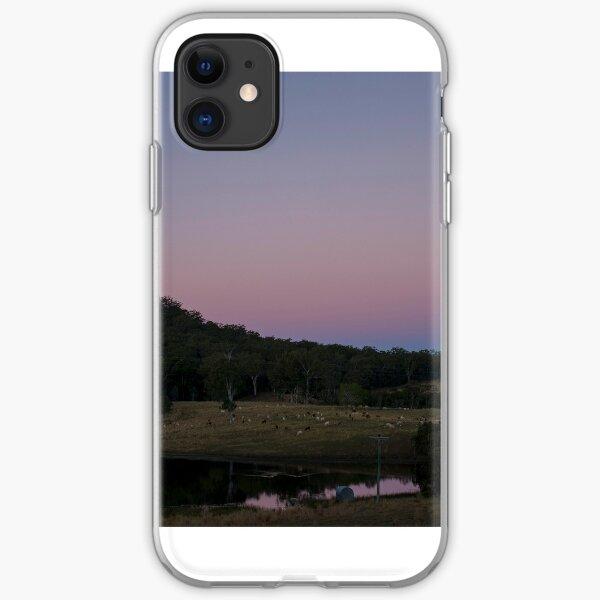 Glasshouse Mountains Sunset iPhone Soft Case
