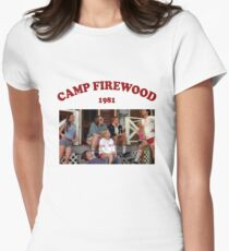 camp firewood 1981 - wet hot american summer Women's Fitted T-Shirt