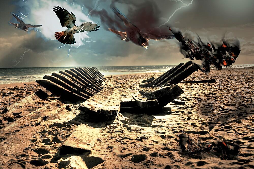 ShipWreck on Cape Cod by Artist Dapixara
