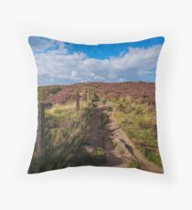 Walking up the hill Throw Pillow