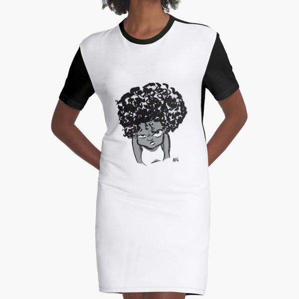 Annoyed Little Girl Graphic T-Shirt Dress