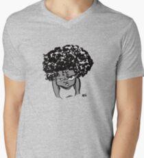 Annoyed Little Girl Men's V-Neck T-Shirt