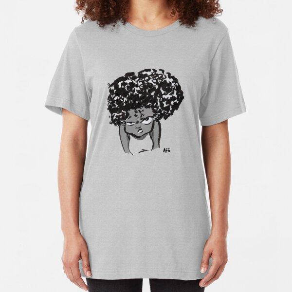Annoyed Little Girl Slim Fit T-Shirt
