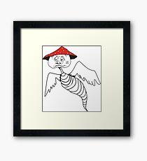 Death-cap mushroom bug Framed Print