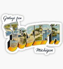 Greetings from St Joseph, Michigan Sticker