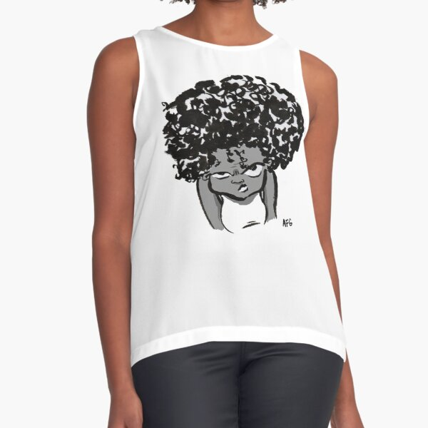 Annoyed Little Girl Sleeveless Top