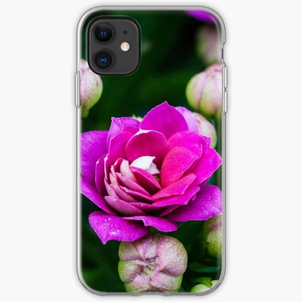 Bright Pink Flowers iPhone Soft Case
