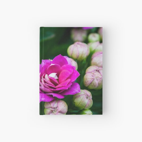 Bright Pink Flowers Hardcover Journal