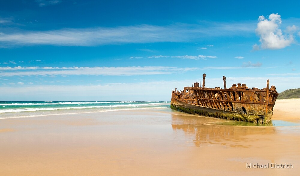 SS Maheno, Fraser Island by Michael Dietrich