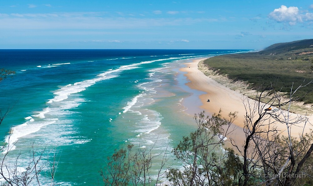 Fraser Island beach from Indian Head by Michael Dietrich