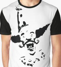 Curly Mustache Clown Graphic T-Shirt