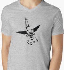 Curly Mustache Clown Men's V-Neck T-Shirt
