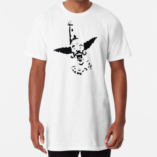 Curly Mustache Clown Long T-Shirt