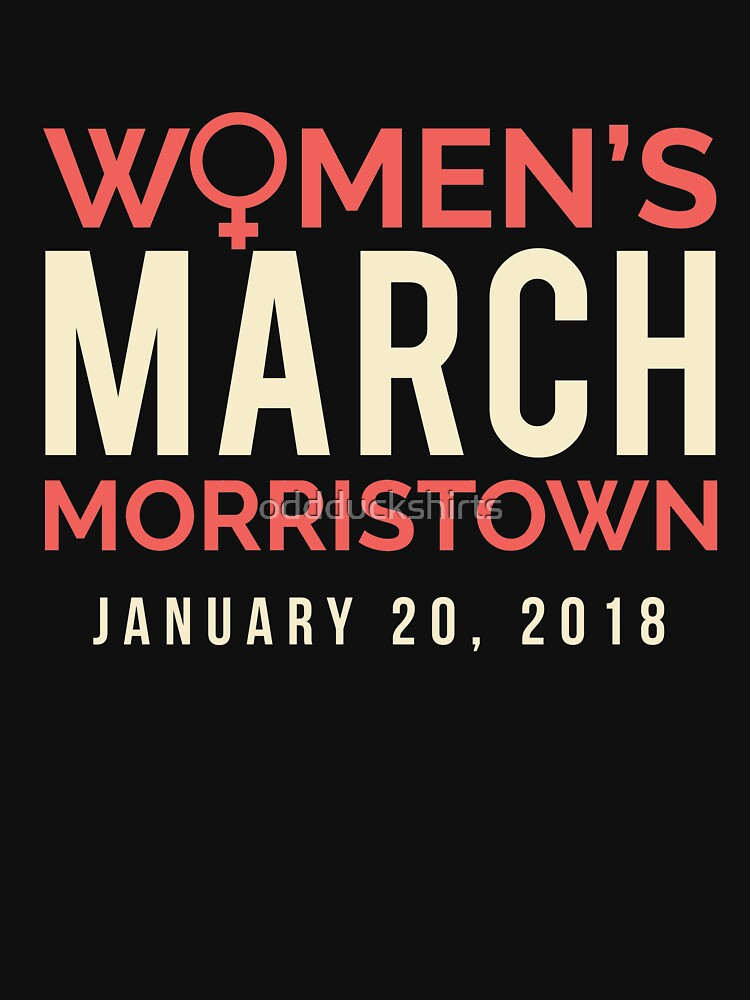 Morristown NJ Women's March January 20 2018 by oddduckshirts